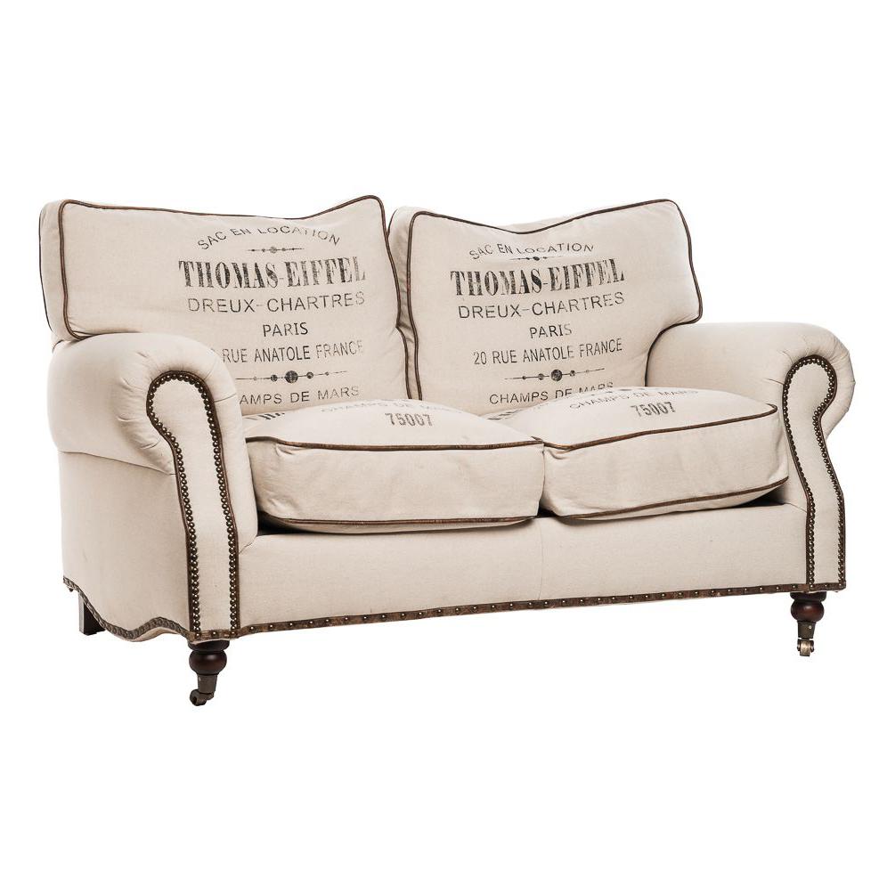 Купить Диван Thomas EiFFei Белый Двухместный в интернет магазине дизайнерской мебели и аксессуаров для дома и дачи