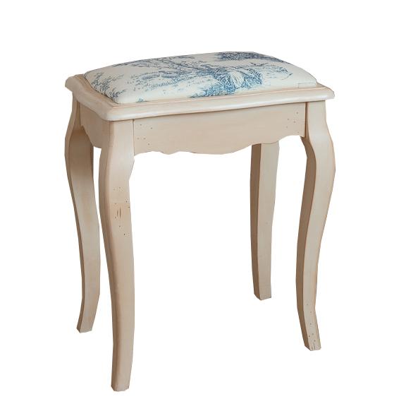 Табурет Mobilier de Maison с мягким сиденьем Бело-серый