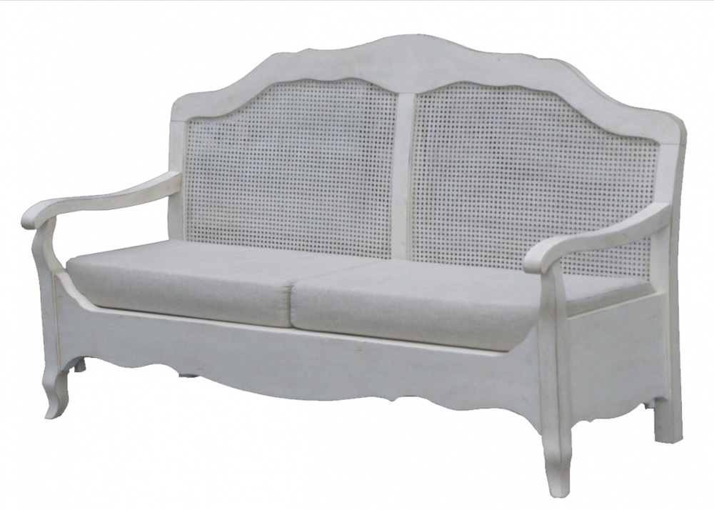 Французкая лавочка Mobilier de Maison Белая
