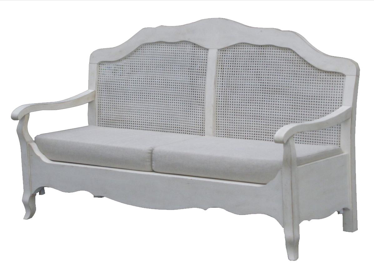 Купить Французкая лавочка Mobilier de Maison Белая в интернет магазине дизайнерской мебели и аксессуаров для дома и дачи