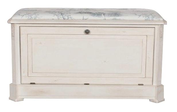 Купить Сундук-пуф Mobilier de Maison Бело-серый в интернет магазине дизайнерской мебели и аксессуаров для дома и дачи