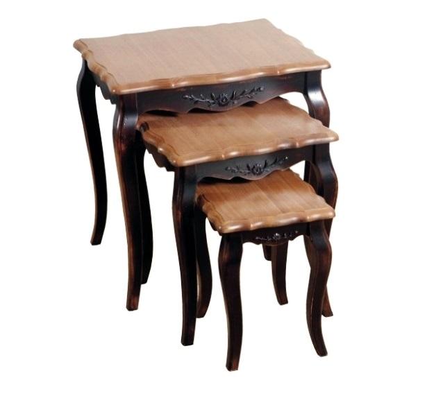 Купить Комплект консольных столиков Mobilier de Maison Коричневый в интернет магазине дизайнерской мебели и аксессуаров для дома и дачи