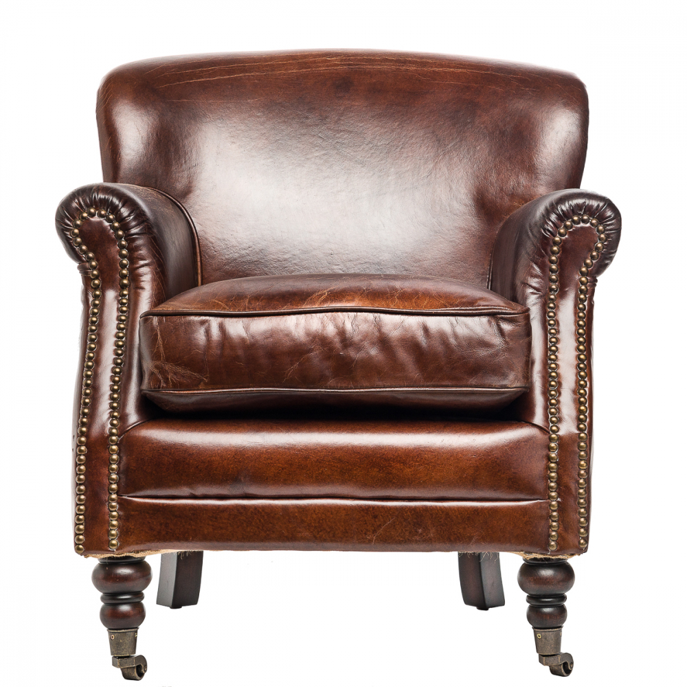 Кресло со спинкой Wiener Коричневое, DO-D-82 от DG-home