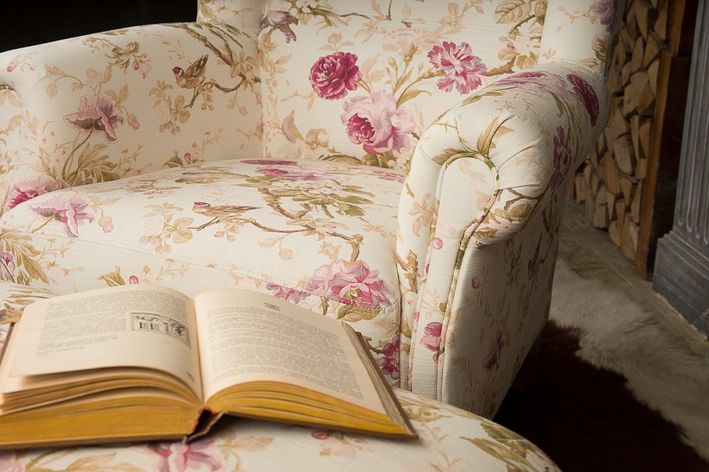 Кресло Shannon Белый Сиреневые Цветы