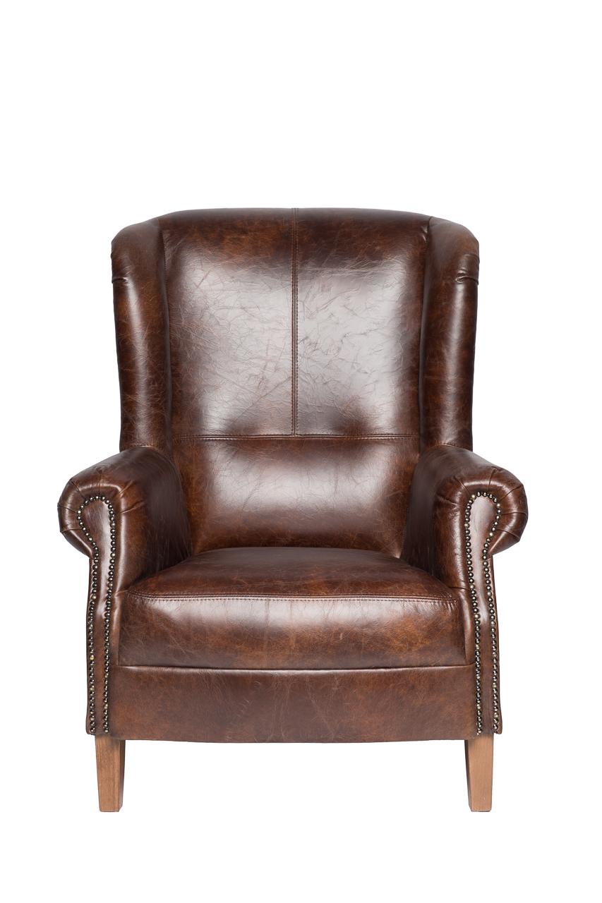 Купить Кресло Shannon Коричневая Кожа в интернет магазине дизайнерской мебели и аксессуаров для дома и дачи