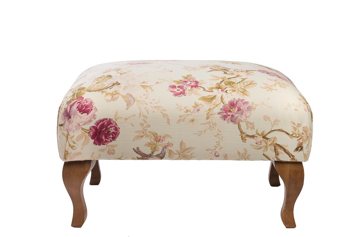 Купить Пуф Shannon Белый Сиреневые Цветы в интернет магазине дизайнерской мебели и аксессуаров для дома и дачи