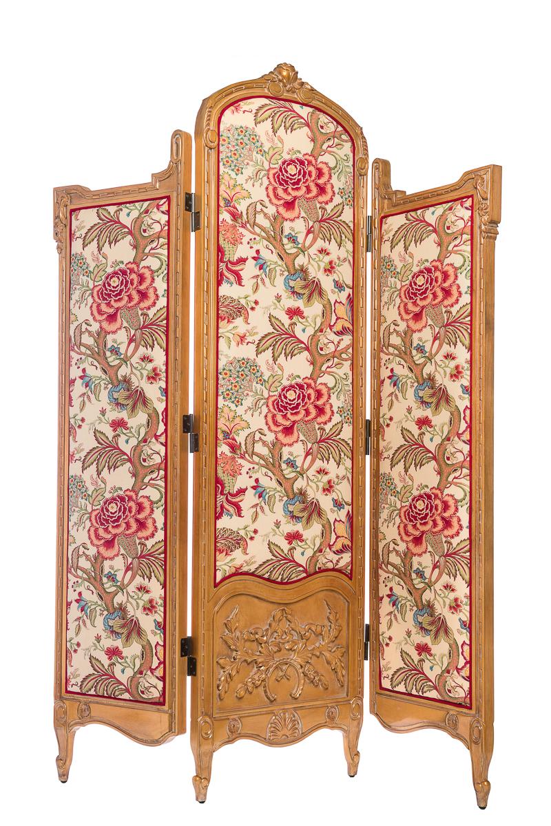Купить Ширма Queen Светло-коричневый Цветы в интернет магазине дизайнерской мебели и аксессуаров для дома и дачи