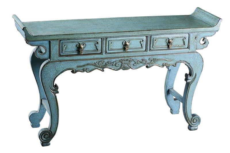 Купить Консоль Цзя-цзиань Серо-голубой в интернет магазине дизайнерской мебели и аксессуаров для дома и дачи