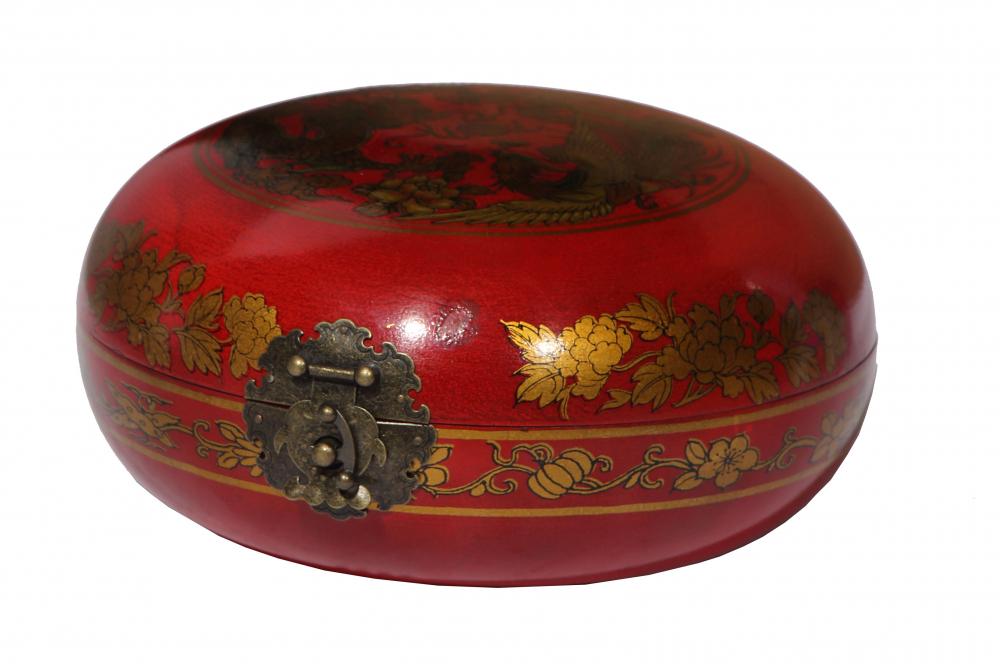 Декоративная шкатулка Gudong Красная