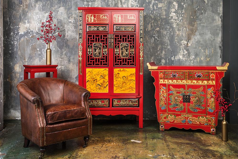 Подставка для цветов Gudong Красная, DO-D-161