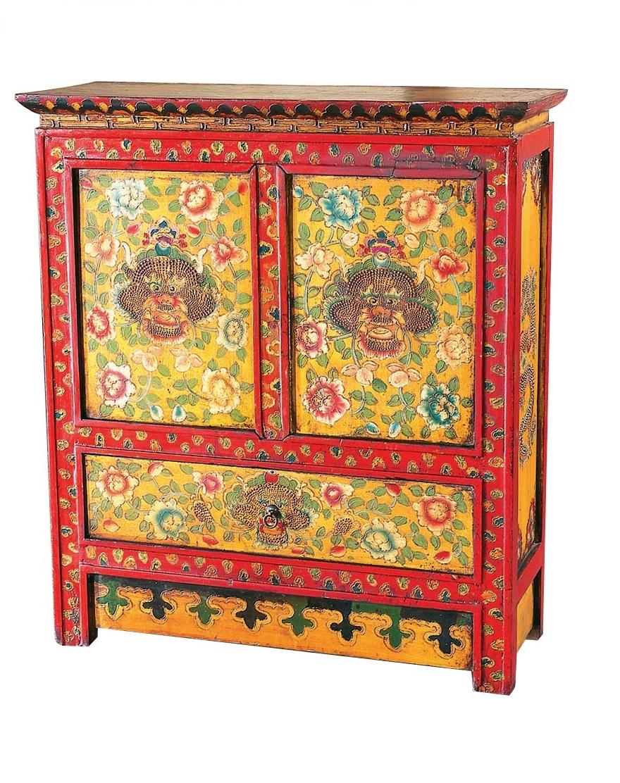 Купить Комод с драконом Тибет Красный в интернет магазине дизайнерской мебели и аксессуаров для дома и дачи