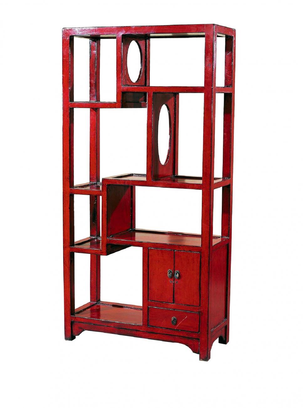 Купить Стеллаж До-Бао-Гэ Красный в интернет магазине дизайнерской мебели и аксессуаров для дома и дачи