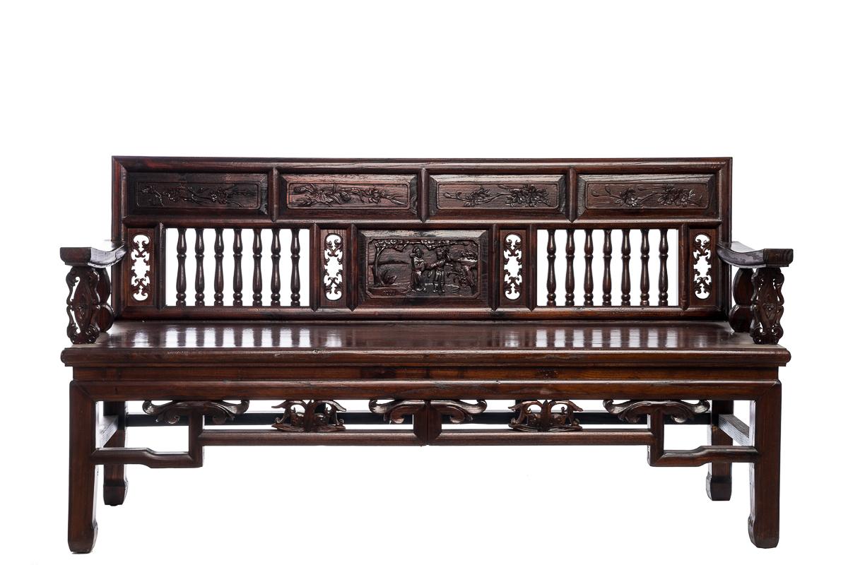 Купить Скамья Династия Цин Коричневый в интернет магазине дизайнерской мебели и аксессуаров для дома и дачи