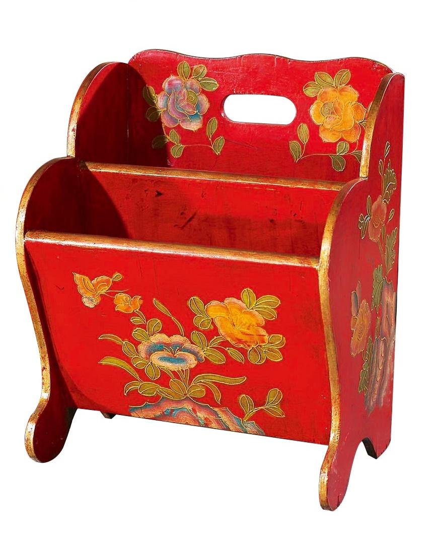 Купить Корзина для газет и журналов Красная в интернет магазине дизайнерской мебели и аксессуаров для дома и дачи