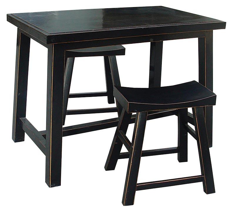 Комплект столов Шу- Чжо с табуретом Фэн- • Дэн Чёрный