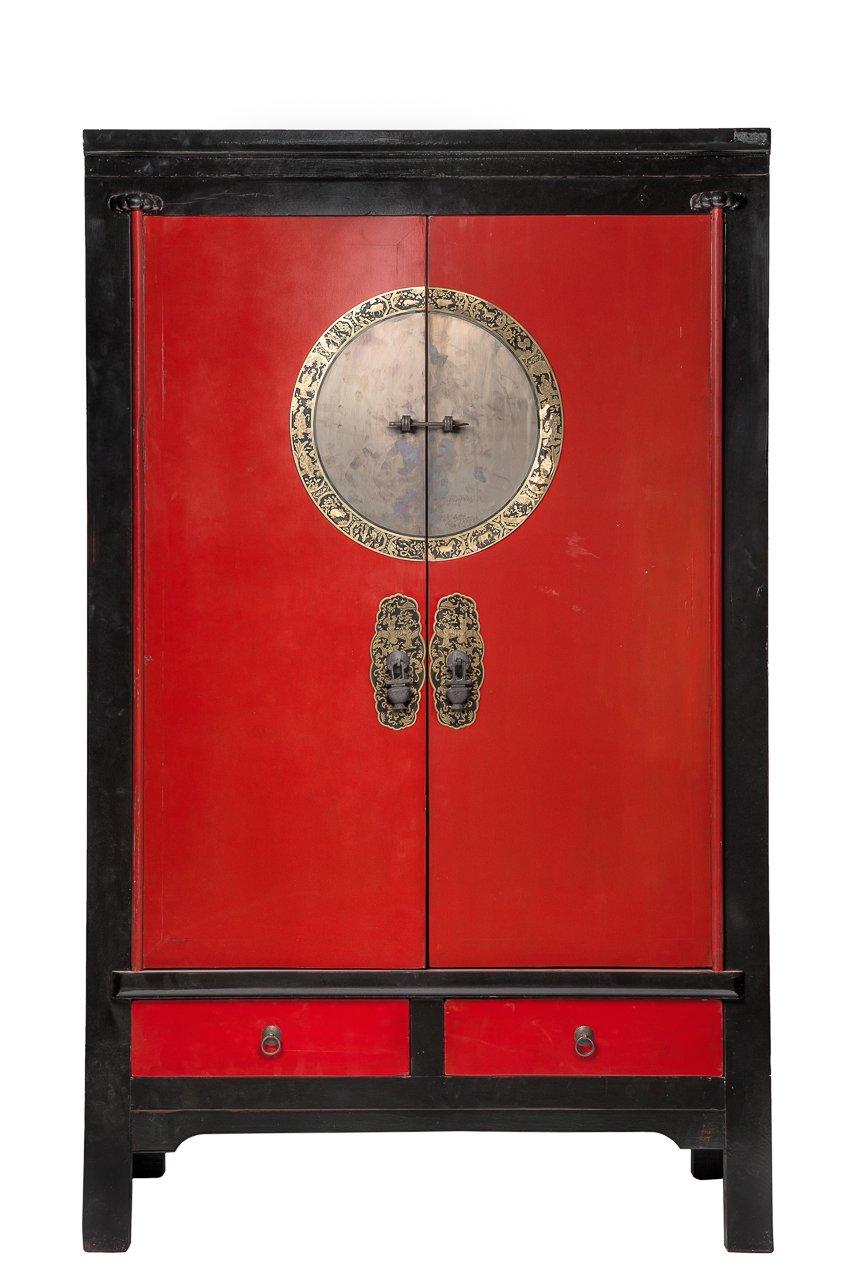 Купить Шкаф Инь-Ян Чёрно-красный в интернет магазине дизайнерской мебели и аксессуаров для дома и дачи