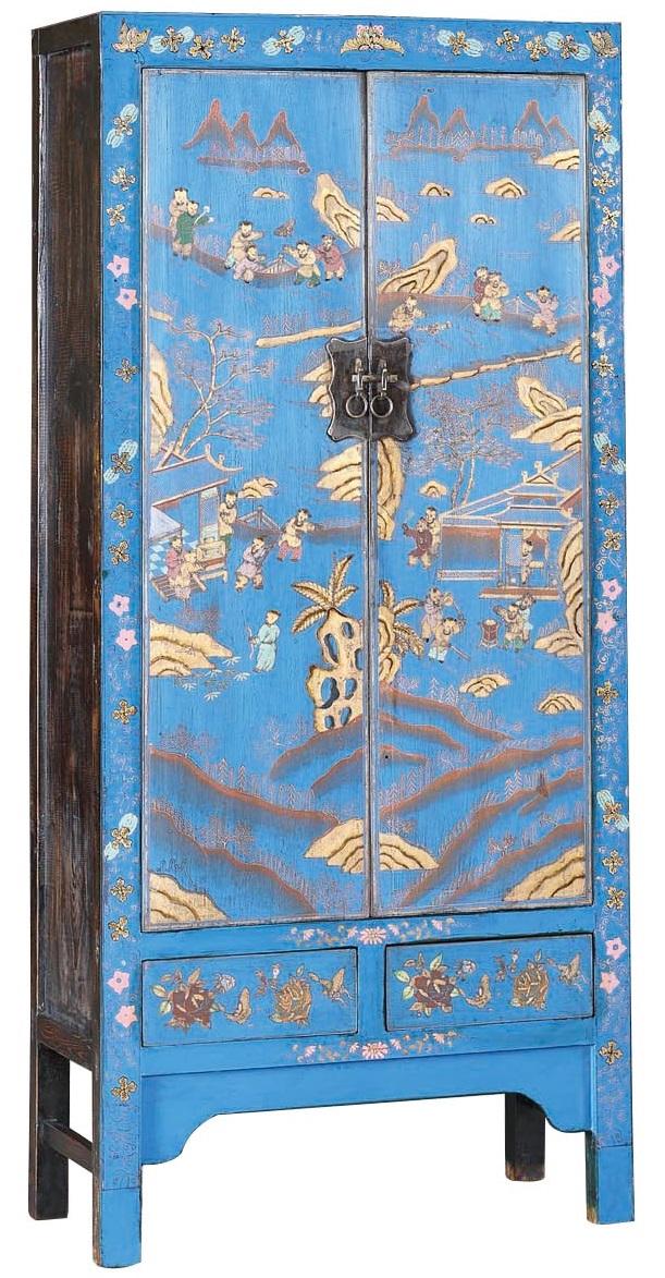Купить Шкаф Китайский Голубой в интернет магазине дизайнерской мебели и аксессуаров для дома и дачи