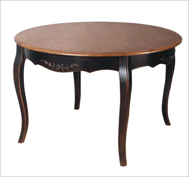 Обеденный стол Тёмный шоколад круглый, • DO-D-259