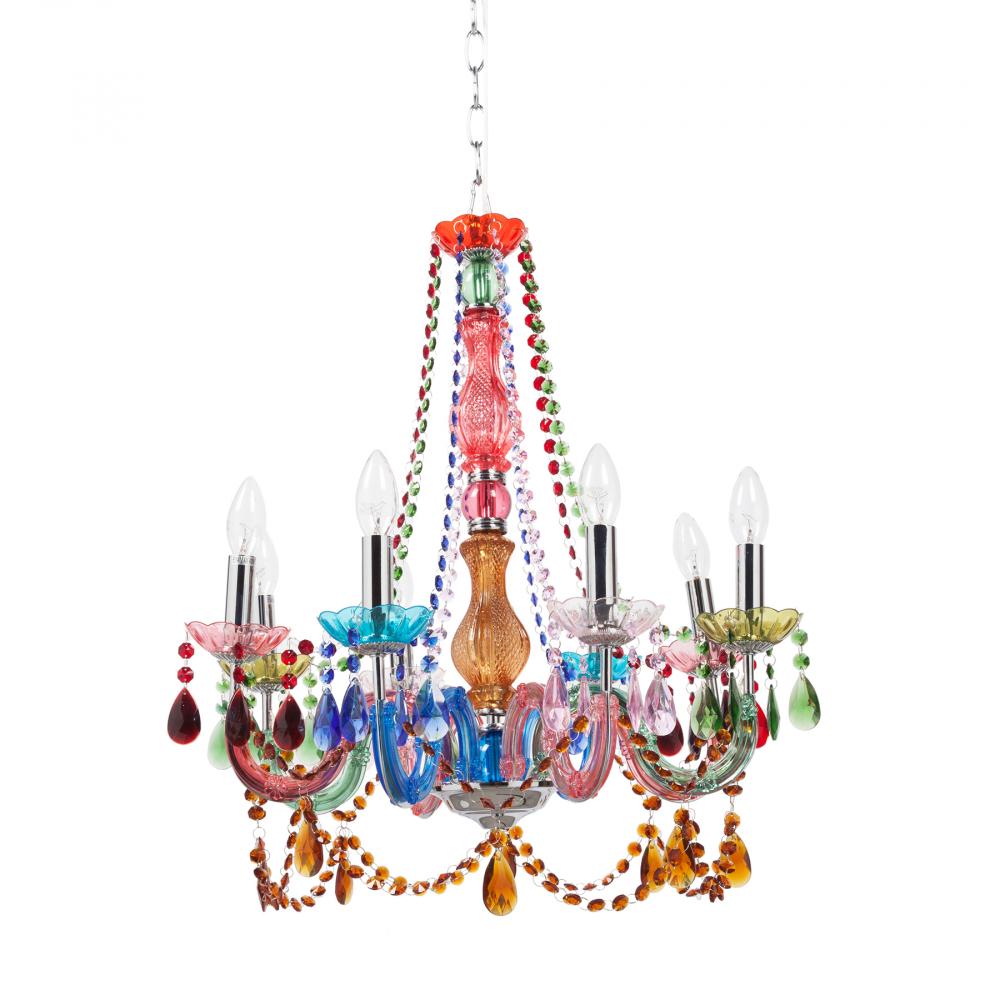 Подвесная люстра Vicenza большаяЛюстры<br>Подвесная люстра: основание акрил; предназначена <br>для использования со светодиодными лампами <br>Е14-8 ламп (лампы не включены в комплект)<br><br>Цвет: Голубой, Розовый<br>Материал: Акрил<br>Вес кг: 4,5<br>Длина см: 54<br>Ширина см: 54<br>Высота см: 65