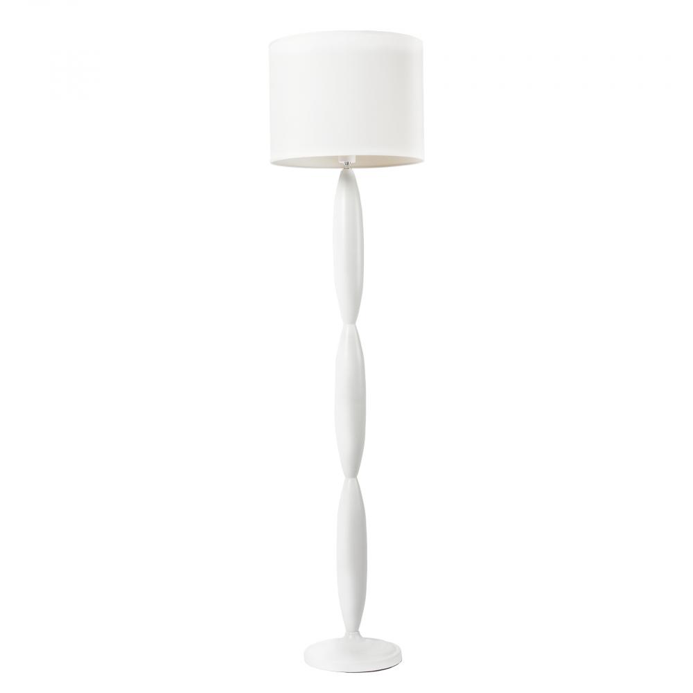 Торшер Classic Белый DG-HOME Напольная лампа: белый тканевый абажур  размер диаметр 40 см, высота 30 см; основание  хромированное железо белого цвета; предназначена  для использования со светодиодными лампами  Е27-1 лампа (лампа не включена в комплект)