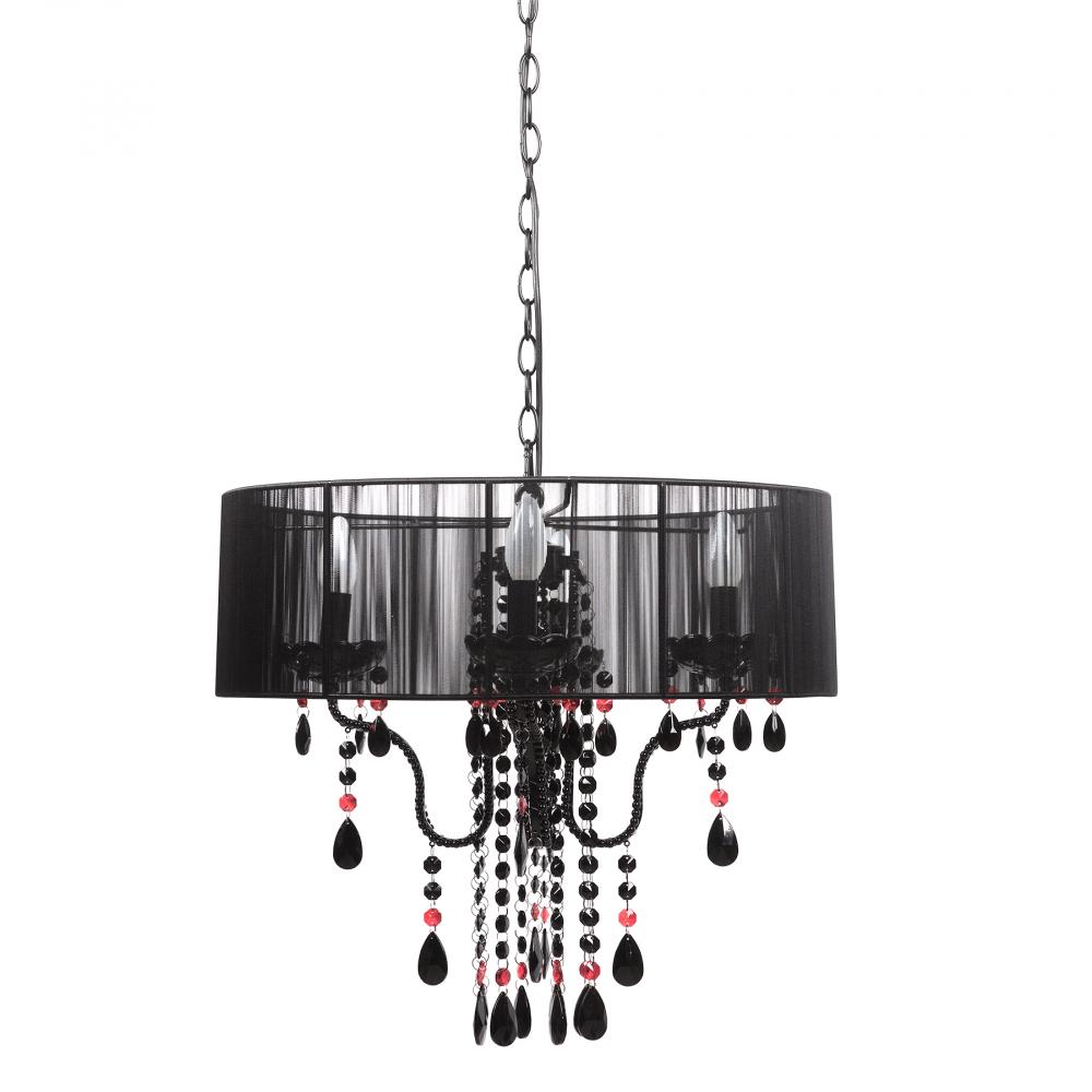 Люстра FavoritЛюстры<br>Подвесная люстра: черный тканевый абажур <br>размером диаметр 56 см, высота 18 см; основание <br>хромированное железо, черный хрусталь; <br>предназначена для использования со светодиодными <br>лампами Е14-4 ламп (лампы не включены в комплект)<br><br>Цвет: 56<br>Материал: Металл, Текстиль<br>Вес кг: 3,8<br>Длина см: 56<br>Ширина см: 48<br>Высота см: 6