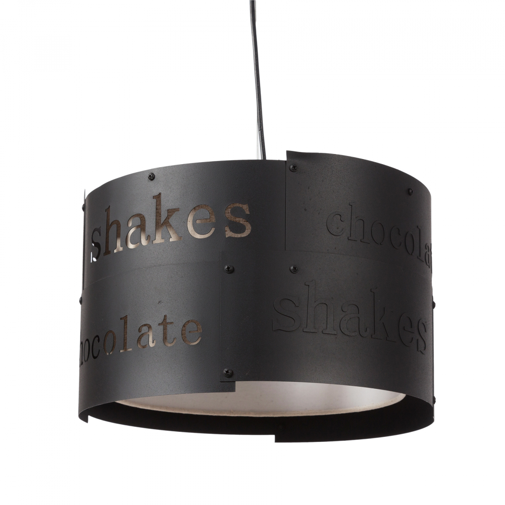 Подвесной светильник Chocolate DG-HOME Подвесная люстра: тканевый абажур размером  диаметр 35 см, высота 23 см; основание хромированное  железо; предназначена для использования  со светодиодными лампами Е27-3 лампы (лампа  не включена в комплект)