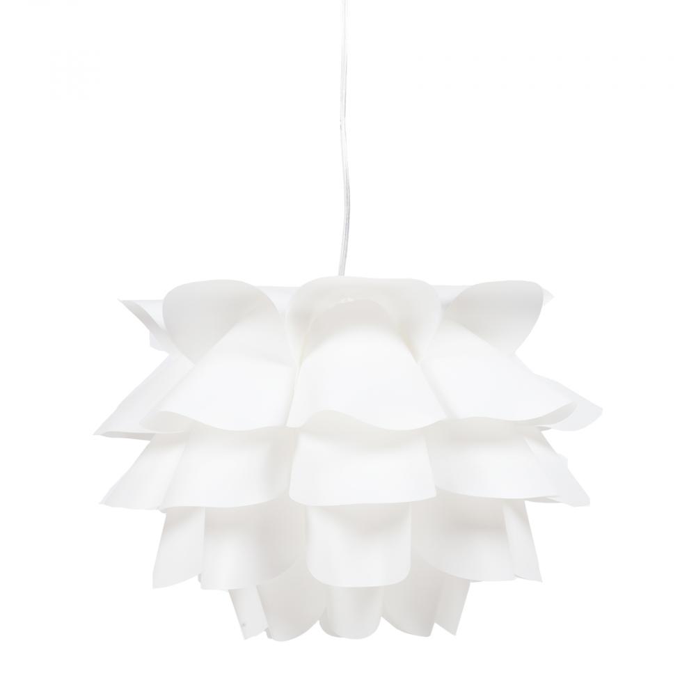 Люстра ArtoЛюстры<br>Подвесная лампа: ПВХ абажур; основание <br>хромированное железо; предназначена для <br>использования со светодиодными лампами <br>Е27-1 лампа (лампы не включены в комплект)<br><br>Цвет: Белый<br>Материал: Металл, ПВХ<br>Вес кг: 2,9<br>Длина см: 50<br>Ширина см: 50<br>Высота см: 30