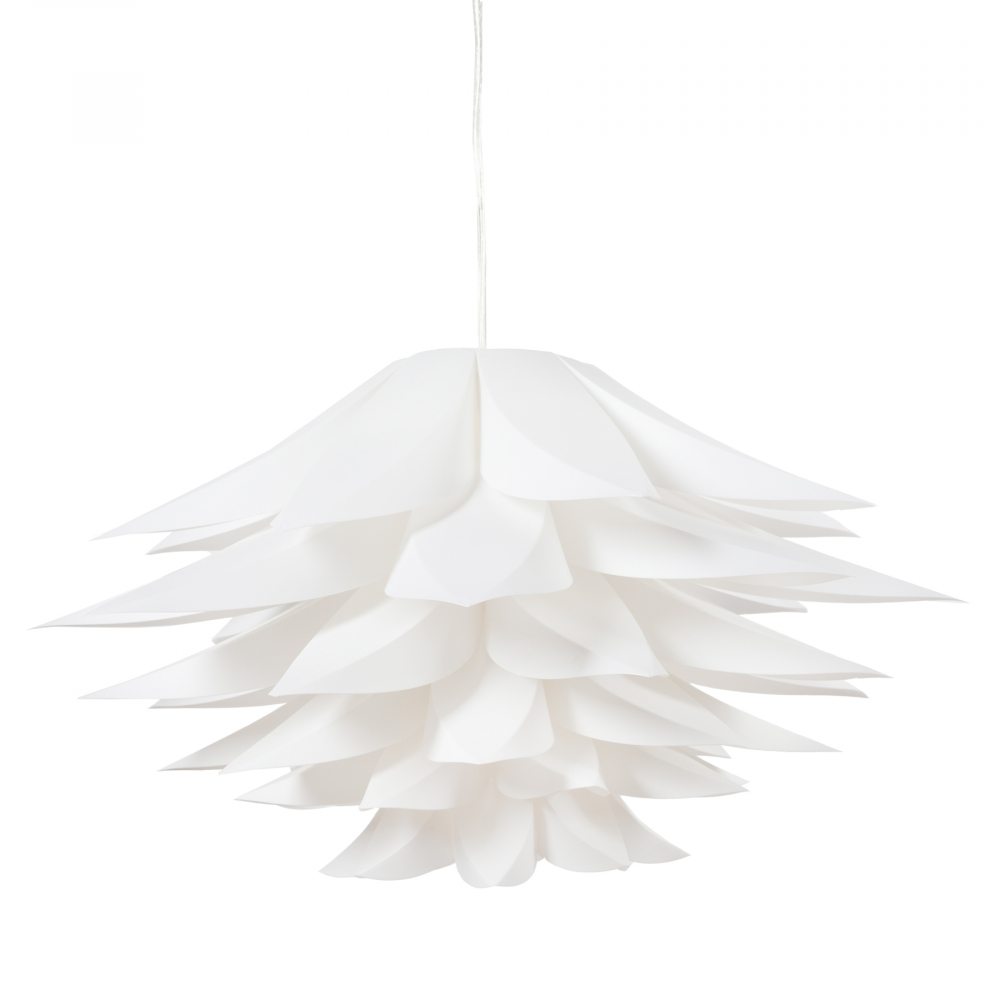 Люстра ArtikЛюстры<br>Подвесная лампа: ПВХ абажур; основание <br>хромированное железо; предназначена для <br>использования со светодиодными лампами <br>Е27-1 лампа (лампы не включены в комплект)<br><br>Цвет: Белый<br>Материал: Металл, ПВХ<br>Вес кг: 2,2<br>Длина см: 56<br>Ширина см: 56<br>Высота см: 30