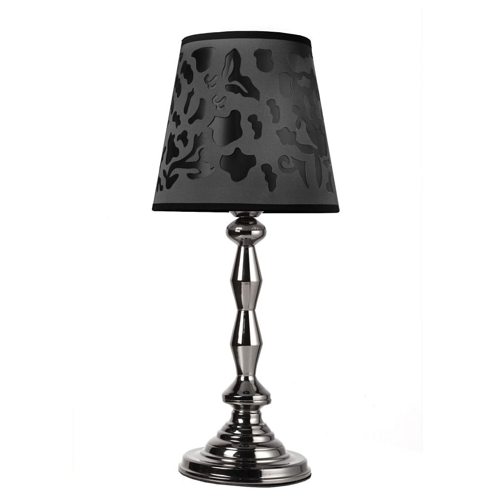 Настольная лампа Ternula DG-HOME Настольная лампа: серого цвета тканевый  абажур размер диаметр 22 см, высота 20 см;  основание хромированное железо; предназначена  для использования со светодиодными лампами  Е27-1 лампа (лампа не включена в комплект)