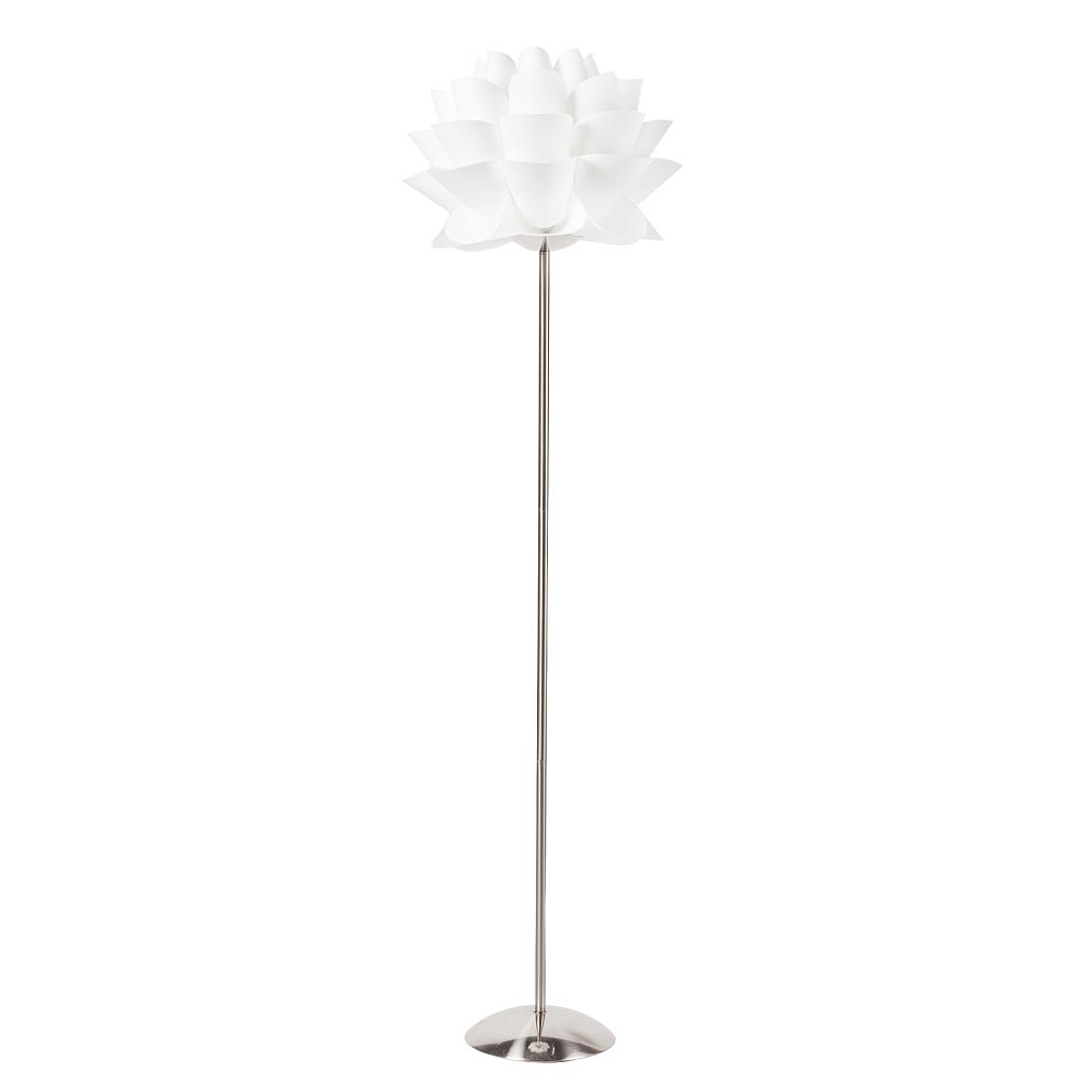 Торшер Arto DG-HOME Напольная лампа: белый ПВХ абажур, основание  никелированное железо; предназначена для  использования со светодиодной лампой Е27-1  лампа (лампа не включена в комплект)