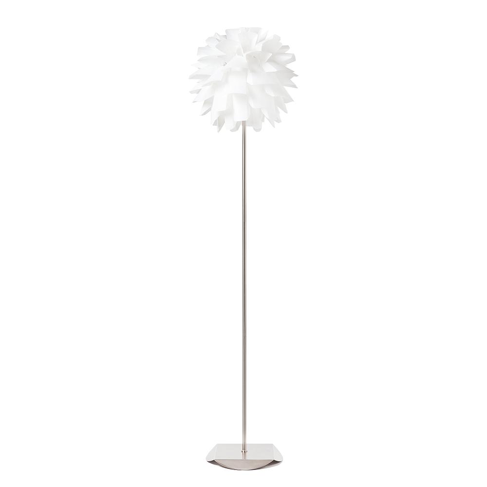 Торшер Artiche DG-HOME Напольная лампа: белый ПВХ абажур, основание  никелированное железо; предназначена для  использования со светодиодной лампой Е27-1  лампа (лампа не включена в комплект)