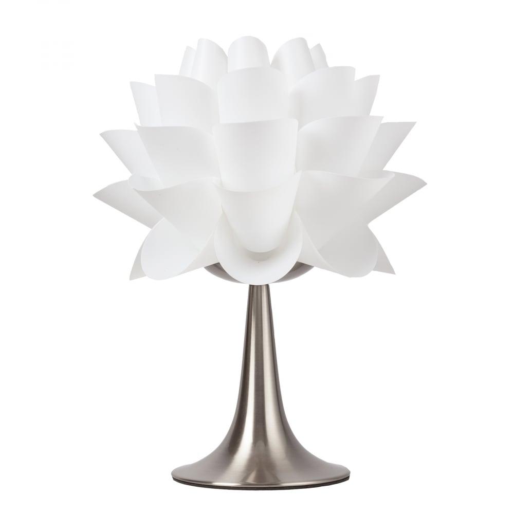 Настольная лампа Arto DG-HOME Настольная лампа: белый ПВХ абажур, основание  никелированное железо; предназначена для  использования со светодиодной лампой Е27-1  лампа (лампа не включена в комплект)