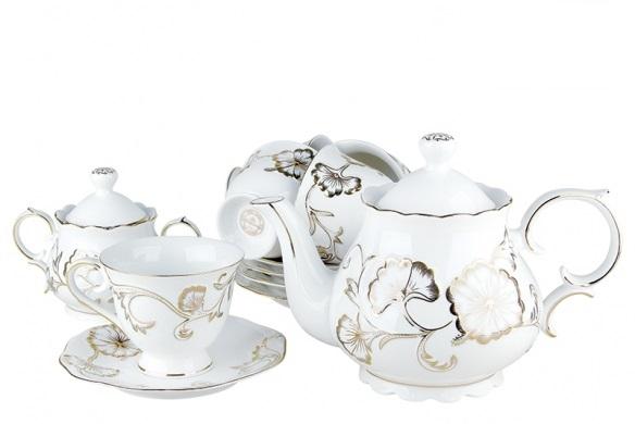 Купить Чайный набор Golden flower в интернет магазине дизайнерской мебели и аксессуаров для дома и дачи