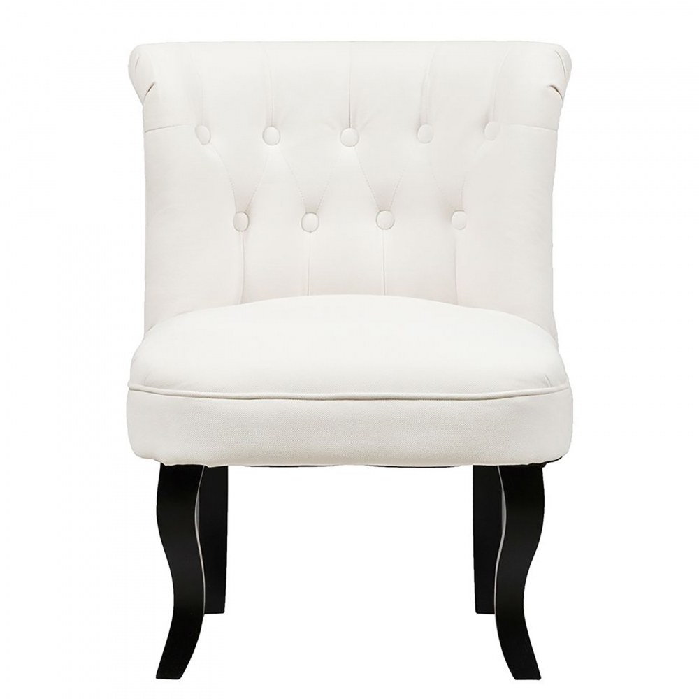 Кресло Dawson Кремовый ВелюрКресла<br>Кресло Dawson — неимоверно комфортное, удобное <br>и красивое — выглядит так, словно вам его <br>только что доставили из роскошного дома <br>аристократической Франции. Богатая обивка, <br>благородная форма деревянного каркаса <br>самого предмета мебели, изящные ножки, нежный <br>цвет — все говорит о его изысканности и <br>шарме. Такое кресло непременно украсит <br>ваш дом, добавив не только очарование и <br>лоск, но и уют и тепло.<br><br>Цвет: Кремовый<br>Материал: Ткань, Дерево<br>Вес кг: 8,5<br>Длина см: 50<br>Ширина см: 50<br>Высота см: 73