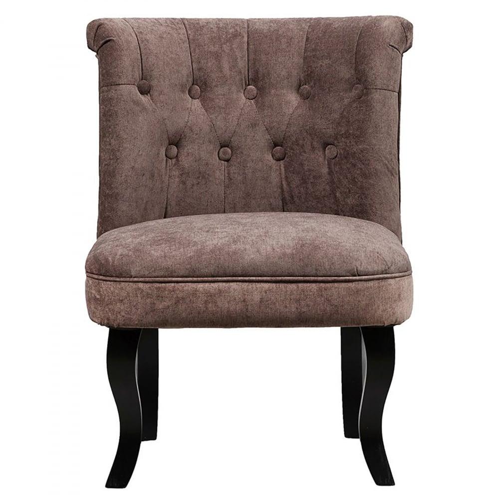 Кресло Dawson Тёмно-коричневый ВелюрКресла<br>Кресло Dawson — неимоверно комфортное, удобное <br>и красивое — выглядит так, словно вам его <br>только что доставили из роскошного дома <br>аристократической Франции. Богатая обивка, <br>благородная форма деревянного каркаса <br>самого предмета мебели, изящные ножки, нежный <br>цвет — все говорит о его изысканности и <br>шарме. Такое кресло непременно украсит <br>ваш дом, добавив не только очарование и <br>лоск, но и уют и тепло.<br><br>Цвет: Коричневый<br>Материал: Ткань, Дерево<br>Вес кг: 8,5<br>Длина см: 50<br>Ширина см: 50<br>Высота см: 73