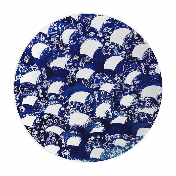 Купить Тарелка столовая 265 мм Волны в интернет магазине дизайнерской мебели и аксессуаров для дома и дачи