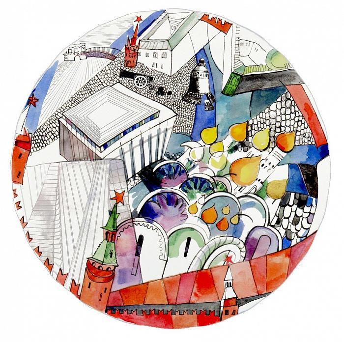 Купить Тарелка сувенирная Кремль в интернет магазине дизайнерской мебели и аксессуаров для дома и дачи
