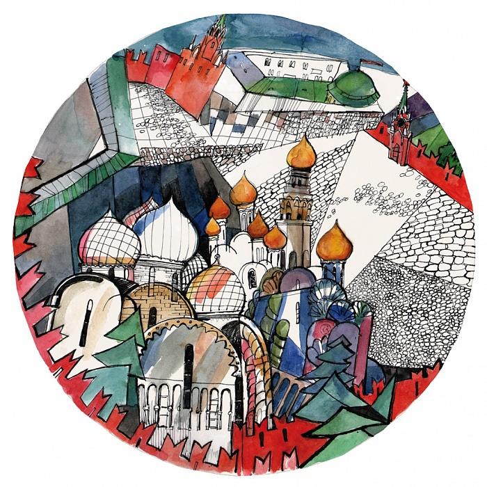 Купить Тарелка сувенирная Соборная площадь в интернет магазине дизайнерской мебели и аксессуаров для дома и дачи
