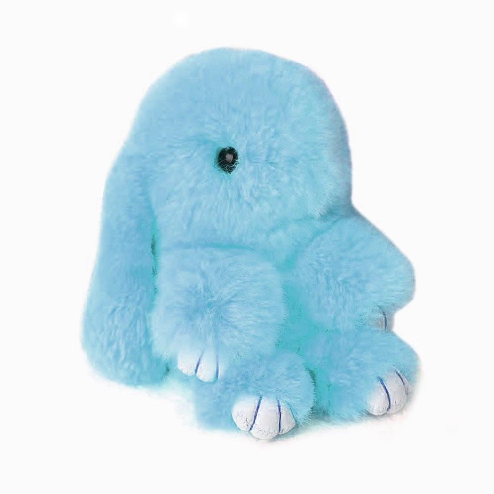 Купить Меховой Зайка Брелок Голубой в интернет магазине дизайнерской мебели и аксессуаров для дома и дачи