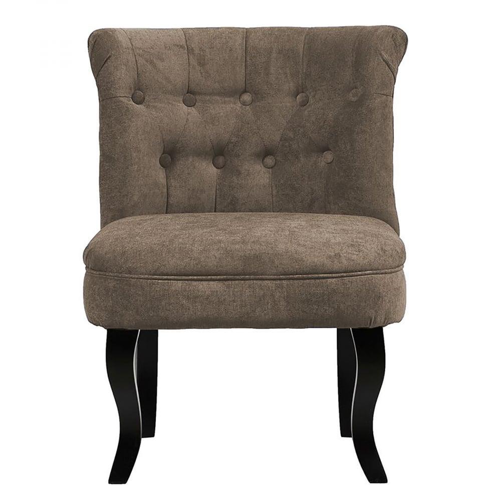 Кресло Dawson Серо-Коричневый ВелюрКресла<br>Кресло Dawson — неимоверно комфортное, удобное <br>и красивое — выглядит так, словно вам его <br>только что доставили из роскошного дома <br>аристократической Франции. Богатая обивка, <br>благородная форма деревянного каркаса <br>самого предмета мебели, изящные ножки, нежный <br>цвет — все говорит о его изысканности и <br>шарме. Такое кресло непременно украсит <br>ваш дом, добавив не только очарование и <br>лоск, но и уют и тепло.<br><br>Цвет: Коричневый<br>Материал: Ткань, Дерево<br>Вес кг: 8,5<br>Длина см: 50<br>Ширина см: 50<br>Высота см: 73