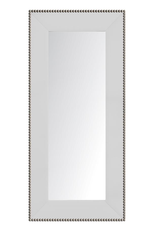 Купить Зеркало напольное с гвоздиками Белое в интернет магазине дизайнерской мебели и аксессуаров для дома и дачи