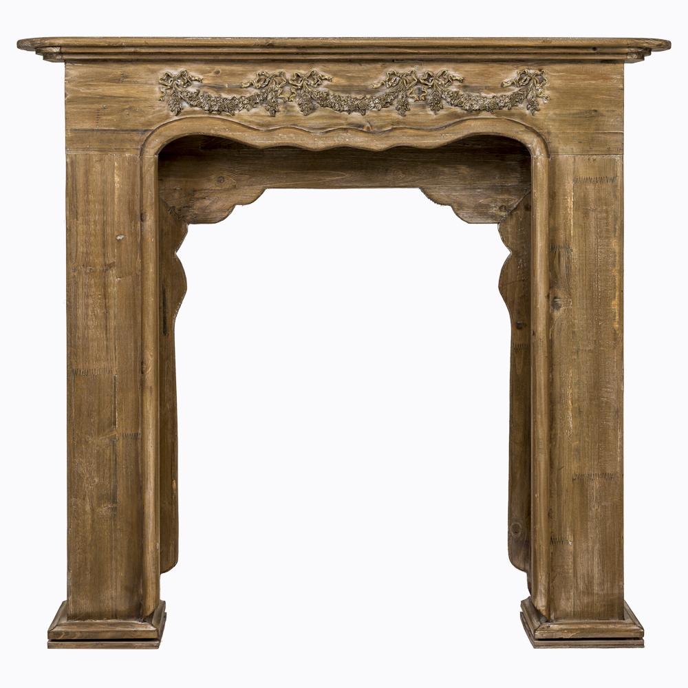 Купить Каминный портал «Жарден» шоколадный антик в интернет магазине дизайнерской мебели и аксессуаров для дома и дачи