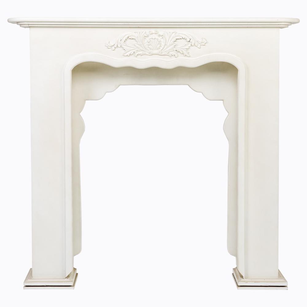 Купить Каминный портал «Вандом» белый в интернет магазине дизайнерской мебели и аксессуаров для дома и дачи