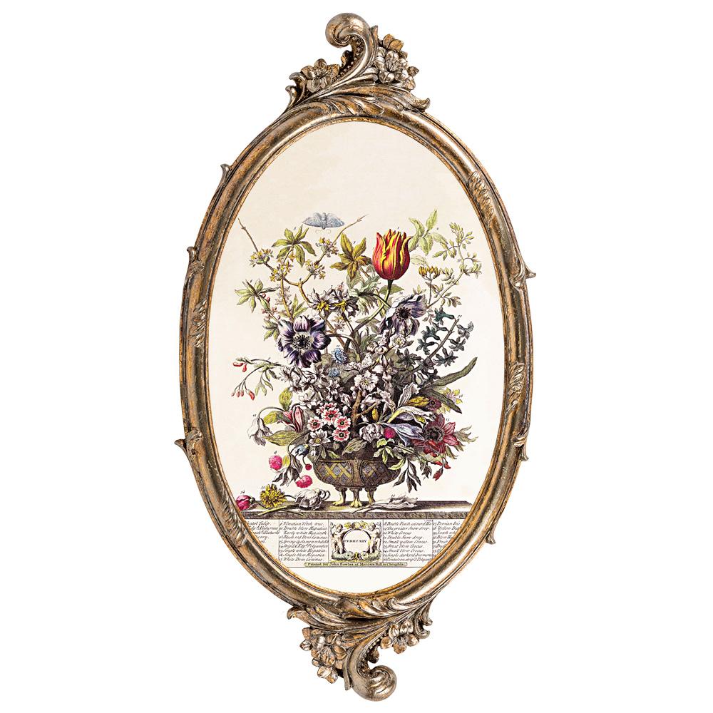 Купить Репродукция на холсте «12 месяцев цветения», версия Февраль в интернет магазине дизайнерской мебели и аксессуаров для дома и дачи
