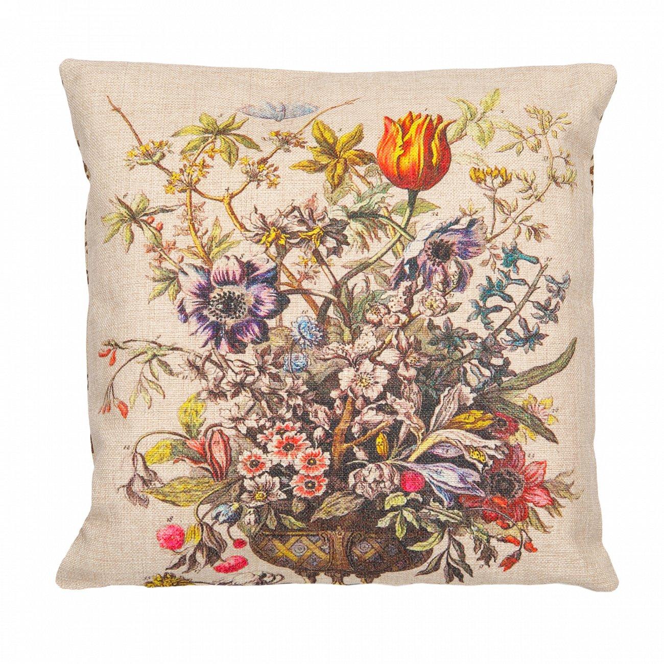 Купить Декоративная подушка «12 месяцев цветения», версия Февраль в интернет магазине дизайнерской мебели и аксессуаров для дома и дачи