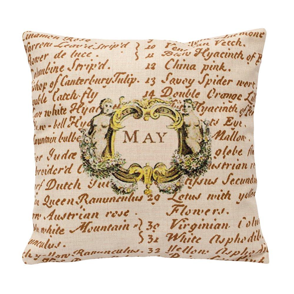 Купить Декоративная подушка«12 месяцев цветения», версия Май в интернет магазине дизайнерской мебели и аксессуаров для дома и дачи