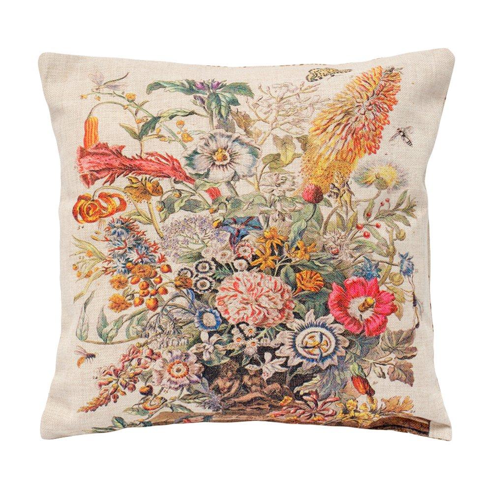 Купить Декоративная подушка «12 месяцев цветения», версия Август в интернет магазине дизайнерской мебели и аксессуаров для дома и дачи