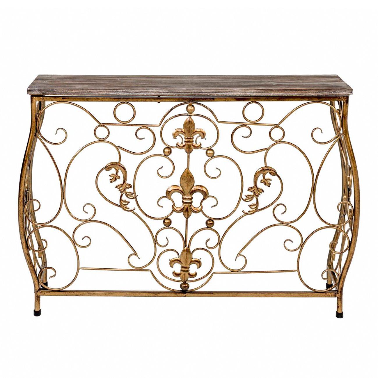 Купить Консоль «Королевская лилия» (бронзовый антик, версия М) в интернет магазине дизайнерской мебели и аксессуаров для дома и дачи