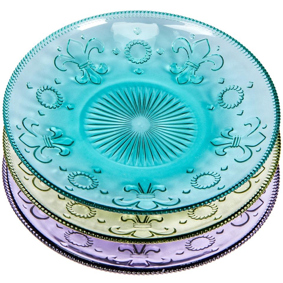 Купить Комплект тарелок «Королевская лилия» в интернет магазине дизайнерской мебели и аксессуаров для дома и дачи