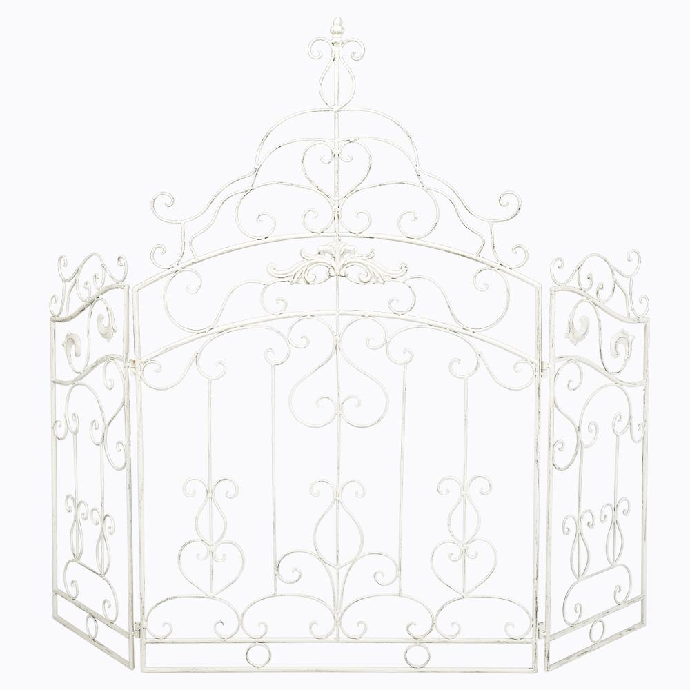 Купить Каминный экран «Клермон» Белый в интернет магазине дизайнерской мебели и аксессуаров для дома и дачи